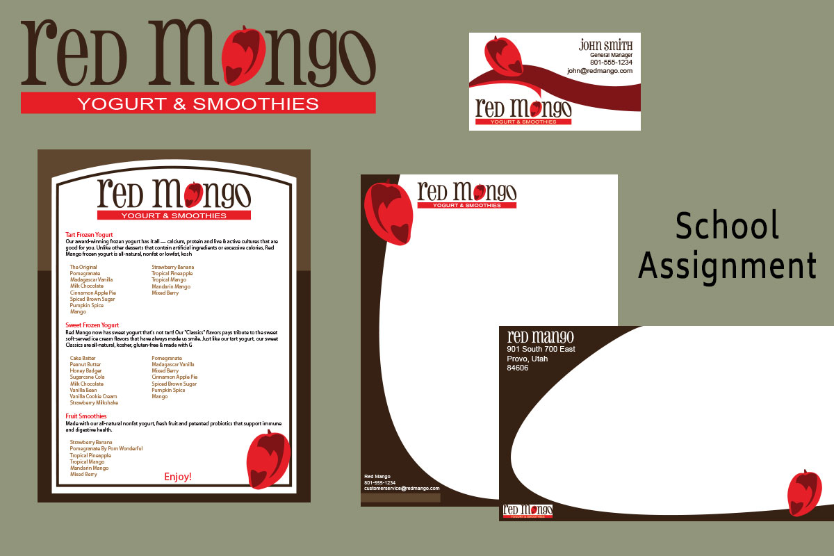 Red Mango Brand Identity/School Project
